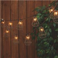 Everlasting Glow Rustic Cage String Lights