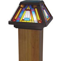 Moonrays Inglenook Stained Glass Post Cap