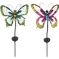 Moonrays Solar Butterfly Stake Light Lawn Ornament