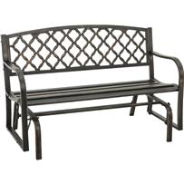 Outdoor Expressions Steel Glider Bench