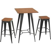 Verdict 3-Piece Industrial Bar Bistro Set