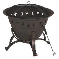 Outdoor Expressions 29 In. Moon & Stars Fire Pit