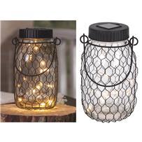 Gerson Everlasting Glow Mason Jar Solar Light