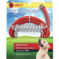 Vinyl-Coated Dog Tie-Out Cable