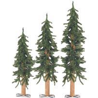 Sterling Alpine Prelit Artificial Tree Set