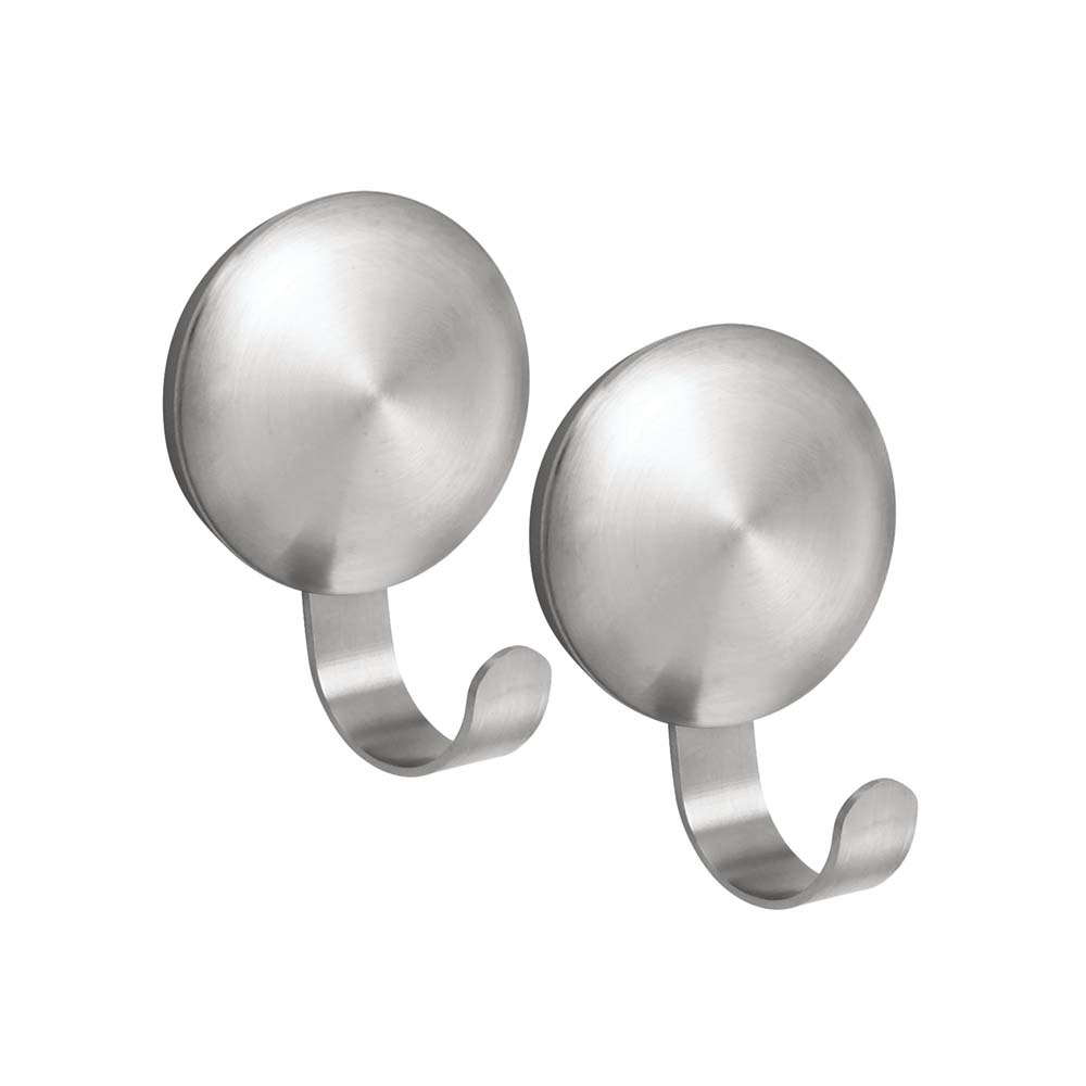 Interdesign #82140 AFFIXX Medium Nickel Forma Hook Set Of 2