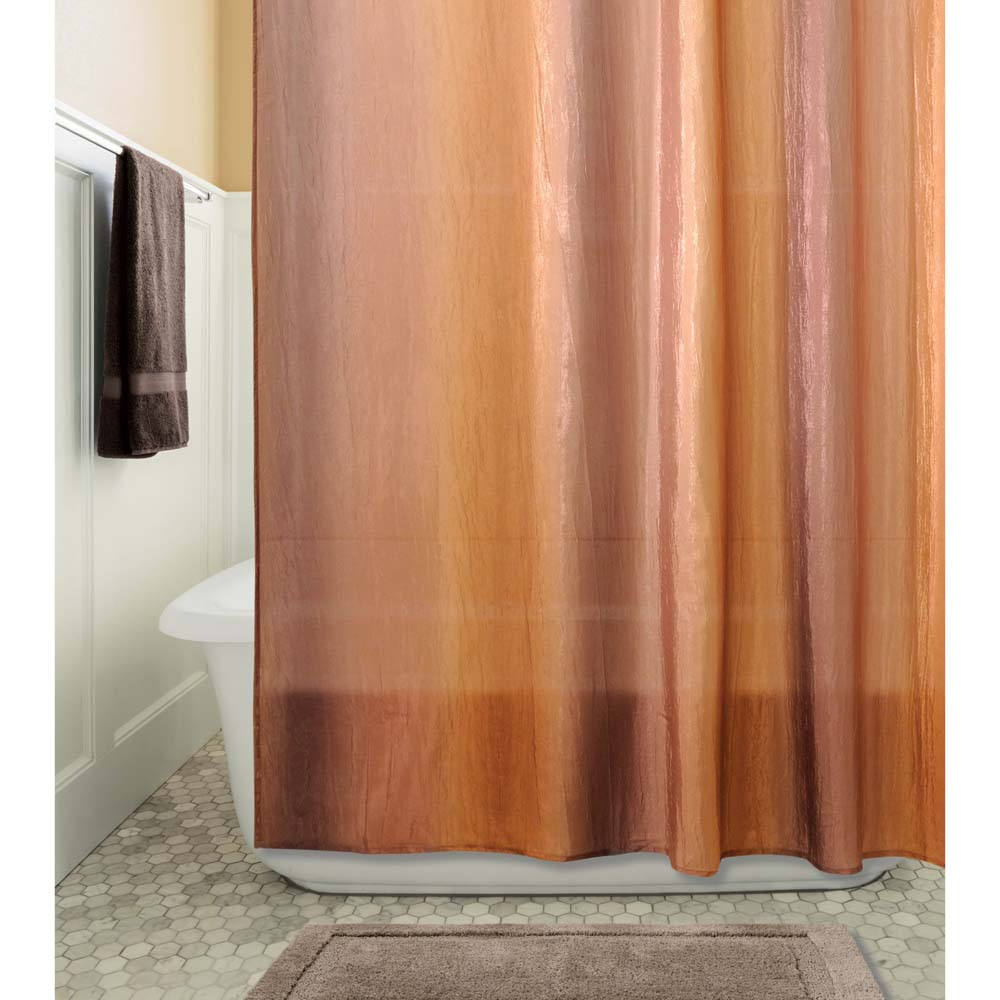 InterDesign Ombre Fabric Shower Curtain 72 X 72 Browngold eBay