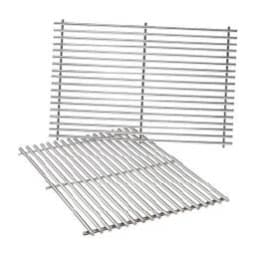 Two stainless steel grill racks to be used as replacement grill grates