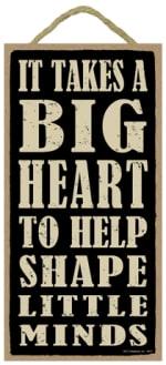 SJT ENTERPRISES 94211 IT TAKES A BIG HEART TO HELP WOOD PLAQUE