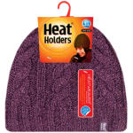 GRABBER LHHH940PUR LADIES HEAT HOLDERS THERMAL HAT PURPLE