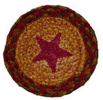 OLIVIAS HEARTLAND BR-253CO CINNAMON STAR BRAIDED COASTER