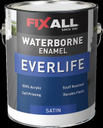 CALIFORNIA PAINTS F10091GL FIXALL WATERBORNE ENAMEL EVERLIFE SATIN PASTEL BASE GALLON