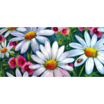 EVERGREEN 431278 BIG DAISIES DECORATIVE MAT INSERT