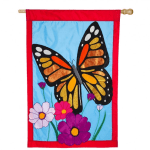 EVERGREEN 158612BL BUTTERFLY APPLIQUE HOUSE FLAG