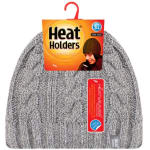 GRABBER LHHH940LGR LADIES HEAT HOLDERS THERMAL HAT LIGHT GRAY