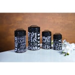TIMELESS BY DESIGN 37013 SUBWAY SIGN FOOD SAFE CANISTERS SET OF 4