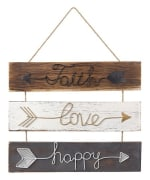 GRASSLANDS ROAD   473589 FAITH LOVE HAPPY WALL SIGN