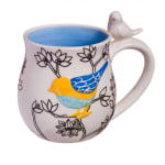 EVERGREEN 3AMH052 HANDPAINTED AND SCULPTED BIRD CERAMIC CUP