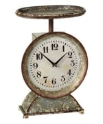 MIDWEST CBK  144665 DISTRESSED WHITE SCALE CLOCK