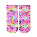 LIVING ROYAL 7120A PINK DONUT ANKLE SOCKS