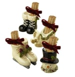 GRASSLANDS ROAD   462806 TOOTHPICK HOLDERS WITH RIBBON PARTY FAVORS ASSORTED