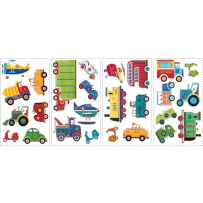 YORK WALLCOVERINGS SPD00045SCS TRUCKS AND TRANSPORTATION WALL DECALS