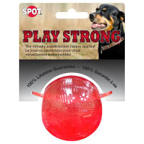 ETHICAL PETS 689876 PLAY STRONG  RUBBER CHEW RED MINI