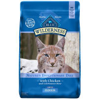 BLUE BUFFALO 596677 11 LB INDOOR CHICKEN RECIPE GRAIN-FREE DRY CAT FOOD