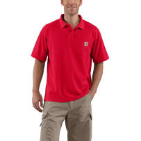 CARHARTT K570-RED XLG POCKET WORK POLO