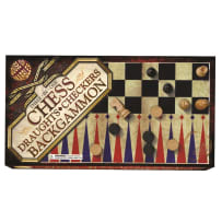 HOUSE OF MARBLES 222082 3 IN 1 CHESS, DRAUGHTS & BACKGAMMON SET
