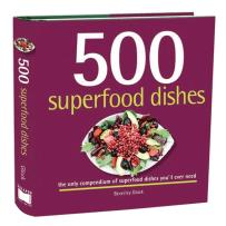RSVP BTM4559 500 SUPERFOOD DISHES COOKBOOK