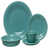 HOMER LAUGHLIN FIESTA 0830-0107 5-PIECE PLACE SETTING TURQUOISE
