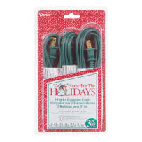 DARICE 1096-52BV EXTENSION CORD SET 3 OUTLETS GREEN