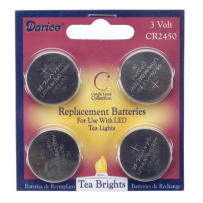 DARICE 6201-91 REPLACEMENT BATTERIES FOR 100 HOUR TEA LIGHT 4 PACK