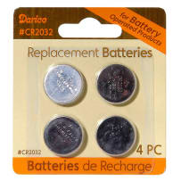 DARICE 6204-70 REPLACEMENT BATTERIES SIZE CR2032 4PACK
