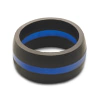 QALO WMBL09 MENS 9 THIN BLUE LINE RING