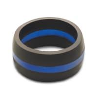 QALO WMBL10 MENS 10 THIN BLUE LINE RING