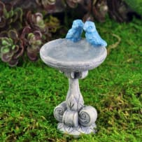 GEORGETOWN HOME&GARDEN 17229 FAIRY GARDEN BLUE BIRD PAIR BIRD BATH