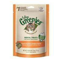 GREENIES 428570 FELINE OVEN ROASTED CHICKEN FLAVOR DENTAL CAT TREATS