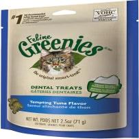 GREENIES 428573 FELINE TEMPTING TUNA FLAVOR DENTAL CAT TREATS