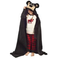 LAZY ONE AB342 BEAR KIDS HOODED BLANKET
