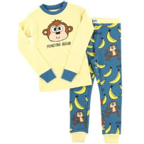 LAZY ONE KID349 MONKEYING AROUND KIDS PJ SET 3T
