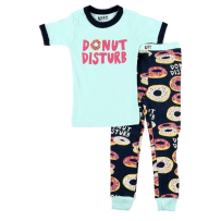 LAZY ONE KSS346 DONUT DISTURB KIDS PJ SET 4T