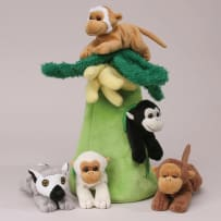 UNIPAK DESIGNS 7166MK PLUSH MONKEY HOUSE WITH MONKEYS