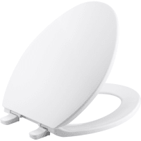 KOHLER K-4774-0 BREVIA WITH QUICK-RELEASE HINGES WHITE ELONGATED TOILET SEAT