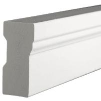 PARKSITE AZM-180-18 AZEK 1-1/4-in x 2-in x 18-ft Brick Moulding - White