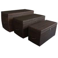 DWL GARDEN FURNITURE CB-398 WICKER CUSHION STORAGE BOX SMALL