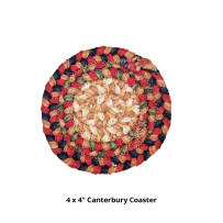 HOMESPICE 790071 BRAIDED COASTER 4 INCH CANTERBURY