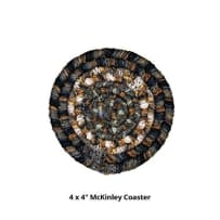 HOMESPICE 790019 BRAIDED COASTER MCKINLEY ULTRA WOOL 4 INCH BLACK