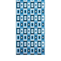 AMSCAN 239907 BLUE SQUARES EMBOSSED GIFT WRAP ROLL